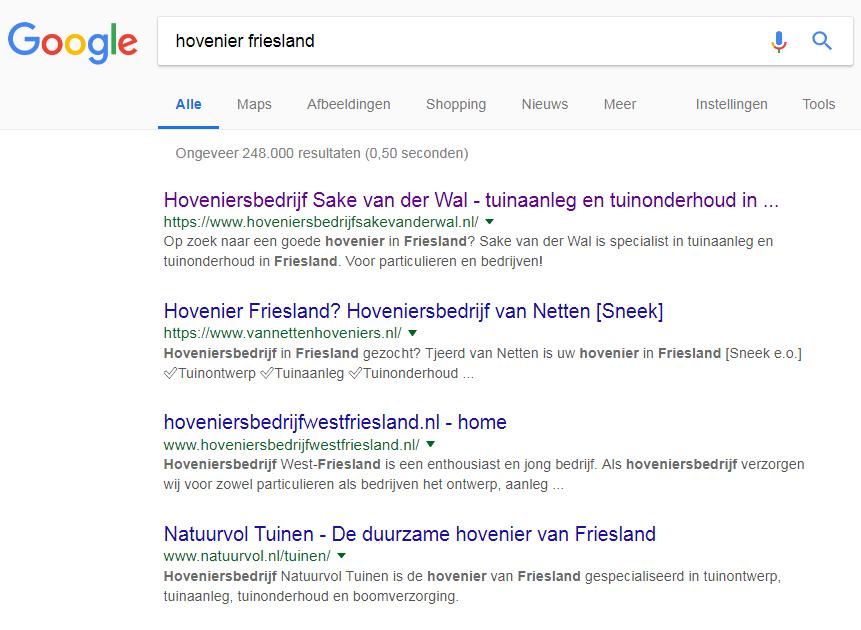 SEO-tekstschrijver-Friesland-hovenier