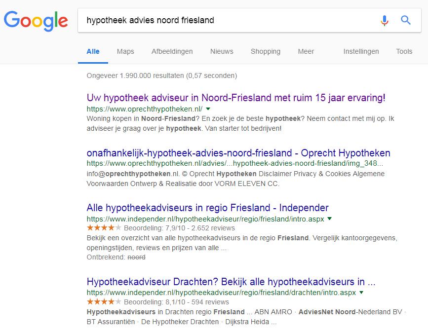 SEO-tekstschrijver-Friesland-hypotheken