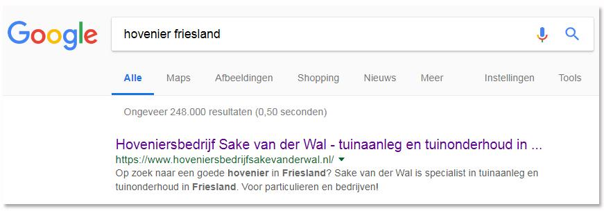 SEO-tekstschrijver-lokaal-zoeken-Friesland-hovenier