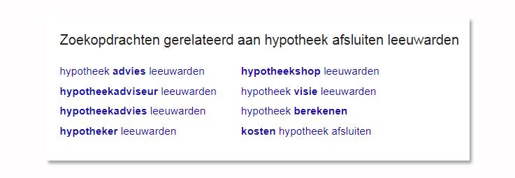 seo-hypotheek-zoekwoorden-friesland-google