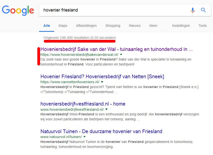 zoekmachine-optimalisatie-Friesland-hovenier